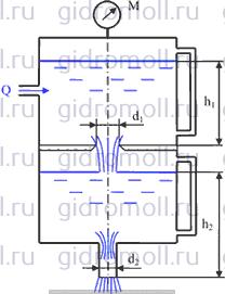 Вода из верхней секции Решение задач по гидравлике Гидравлика Куколевский куколевского 6-13