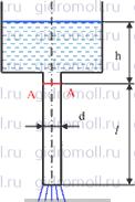 Жидкость вытекает Решение задач по гидравлике Гидравлика Куколевский куколевского 9-6