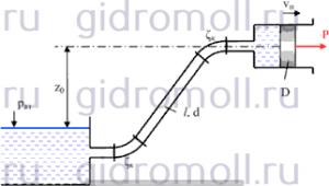 Поршень диаметром двигаясь равномерно Решение задач по гидравлике Гидравлика Куколевский куколевского 9-45 9.45