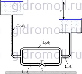 Определить расход воды Решение задач по гидравлике Гидравлика Куколевский куколевского 10-8