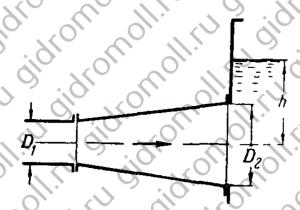 Из диффузора входной и выходной Решение задач по гидравлике Гидравлика Куколевский куколевского 13-1