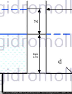Бак диаметром Решение задач по гидравлике Гидравлика Куколевский куколевского 11-7