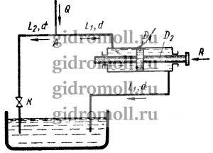 Перемещение поршня гидроцилиндра Решение задач по гидравлике Гидравлика Куколевский куколевского